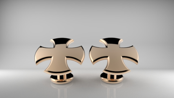 Stylised Cross Cufflinks