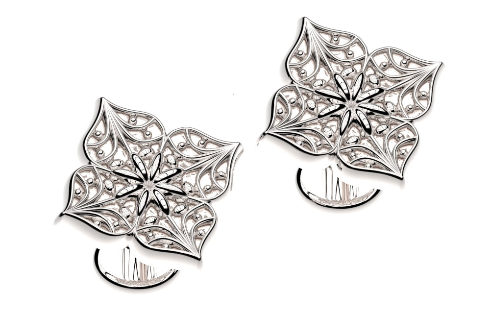 Poinsettia Cufflinks